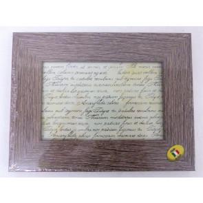 Dřevěný fotorámeček tmavší 10x15cm