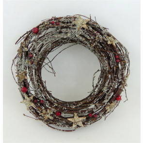 Věnec větvičky hnědý 30cm