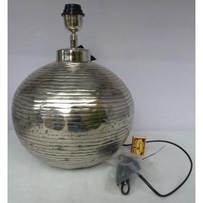 Podstavec lampy bez stínidla stříbrná koule