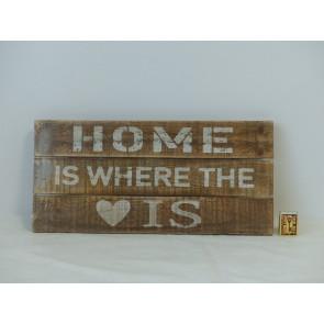 """Cedule dřevěná """"Home is where the is"""""""