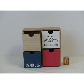 Skříňka malá dřevěná NO.5 22x10x22cm KPM