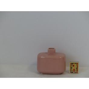 Láhev růžová  h10,5 12x8,5 HAK