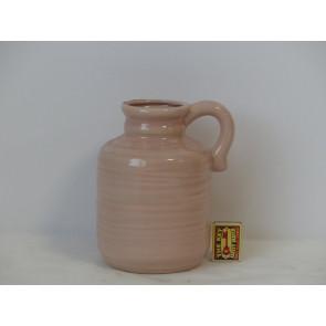 Džbán růžový  h20 d13,5 HAK