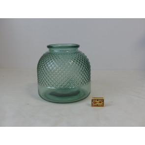 Skleněná váza zelená TT