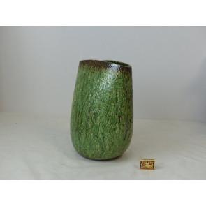 Keramická váza oval hnědá/zelená 27x32,5cm GO