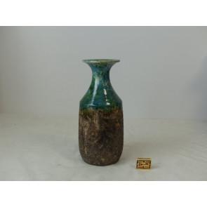 Váza keramická Mira zelená 15x15x35cm GO