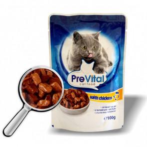 Kapsička PreVital Cat kuřecí 100g