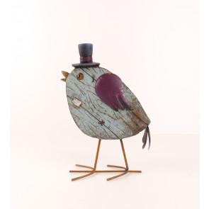 Ptáček v klobouku modrý