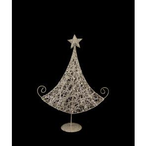 Stromek s hvězdou bílý s glitry