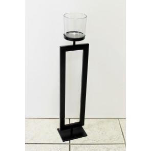 Svícen kov/sklo černý 75cm