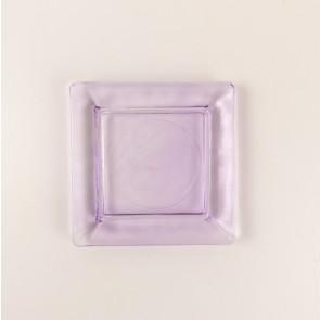 Skleněný tácek pod svíčku - fialový