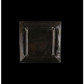 Skleněný tácek pod svíčku - čirý