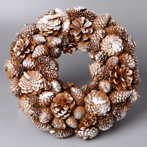Věnec šišky vánoční 25cm patina