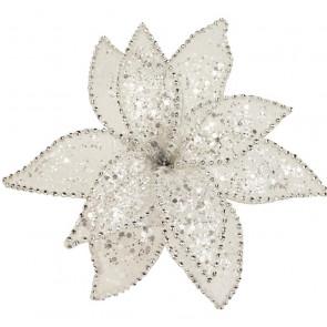 Dekorační květ 20cm, bílý
