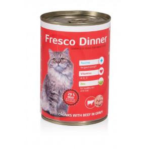 Fresco Dinner Cat hovězí, 415g