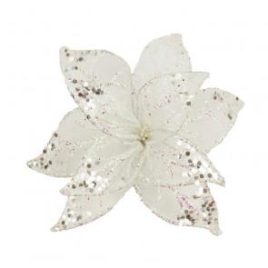 Dekorační květ 20cm, bílý X0989