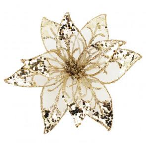 Dekorační květ 20cm, champagne X0995