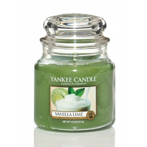 YANKEE CANDLE Classic střední - Vanilla Lime 411g