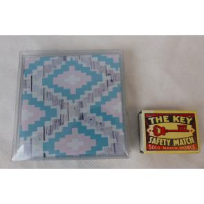 Podtácky skleněné 4ks Aztecan 9x9x0,5 cm GO