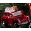 Ozdoba auto červená skleněná 5cm 0836 GLS
