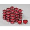 Vánoční skleněné ozdoby srdce 36ks červená 4cm