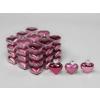 Vánoční skleněné ozdoby srdce 36ks růžová 4cm