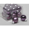 Vánoční skleněné ozdoby 18ks fialové 3cm