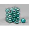 Vánoční skleněné ozdoby 18ks modrozelené 3cm