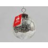 Vánoční  koule praskaná stříbrná 7,5cm