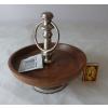 Etažér dřevo/kov 17x20cm