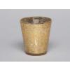 Svícen na čajovou svíčku zlatý 8x8cm