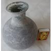Váza skleněná šedá 11,5x5,5x15cm