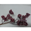UK Větvička s bobulemi - glitry - červená
