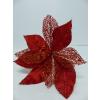 UK Vánoční hvězda s glitry - červená