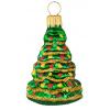 Skleněná ozdoba  mini vánoční stromek 6cm
