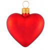 Skleněná ozdoba mini srdce červené 5cm