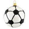 Skleněná ozdoba fotbalový míč bílo/černý 8,5cm