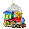 Skleněná ozdoba parní lokomotiva 12cm