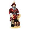 Skleněná ozdoba Santa Corsair 19cm