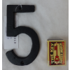 Domovní číslo litinové černé - 5